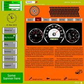 Sjabloon-website over auto onderwerpen. — Stockvector