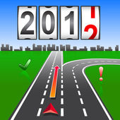 2012 New Year counter, vector. — Vettoriale Stock