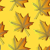 Um padrão sem emenda com folha, fundo de folha outono — Vetor de Stock
