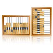 ábaco de madera vieja cerrar — Vector de stock