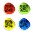 Set of labels with qr codes. — Stock Vector #34520027