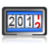 2012 nytt år counter, vektor. — Stockvektor