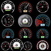 Set of car speedometers for racing design. — Stock Vector