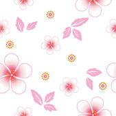 Seamless floral background. Repeat many times. — Stock Vector