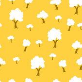 在向量中的无缝树植物图案背景 — 图库矢量图片