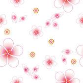 Bezszwowe tło kwiatowy. powtórz tyle razy. — Wektor stockowy