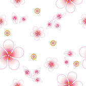 Naadloze floral achtergrond. vele malen herhalen. — Stockvector