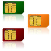 Set vector SIM cards. — Stock Vector