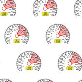 Seamless wallpaper speedometer — Stock Vector