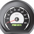 Stock Vector: Car speedometers for racing design.