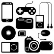 Icon set of electronic gadgets — Stock Vector #34536625