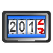 2013 New Year counter, vector. — Stock Vector