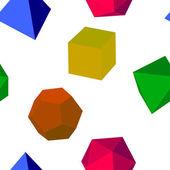 无缝创辉 3d 矢量几何形状 — 图库矢量图片