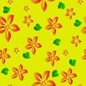 Flower seamless background. Vector — Stock Vector
