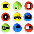 Icon set of electronic gadgets — Stock Vector #34545445