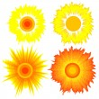 Set of suns. Elements for design. — Stock Vector