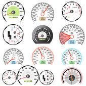 Set of car speedometers for racing design. — Stock Vector