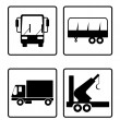 Collection of transport icons — Stock Vector