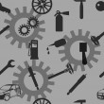 Auto Car Repair Service Icon Symbol. — Stock Vector #34579205