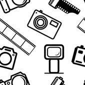 Seamless background, of digital cameras — Stock Vector