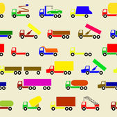 Cars, vehicles. Car body. Seamless wallpaper. — Stock Vector