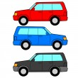 Set of vector icons - transportation symbols. — Stock Vector