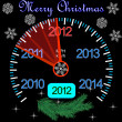 2012 counter on the dashboard for new year — Stock Vector