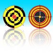 Stock Vector: Targets for practical pistol shooting