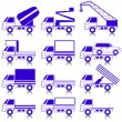 Set of vector icons - transportation symbols. — Stock Vector #34584257