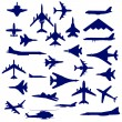 Combat aircraft. — Stock Vector #34585135