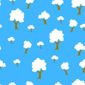 Fondo transparente árbol planta en vector — Vector de stock