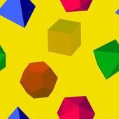 Geometric shapes pattern — Stock Vector