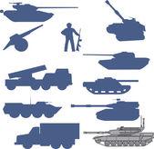 Set tanks collection - vector — Stock Vector