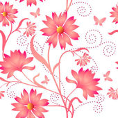 Elegance Seamless color pattern on background, vector illustrati — Stock Vector