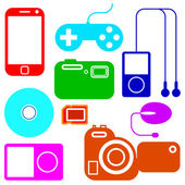 Icon set of electronic gadgets — Stock Vector