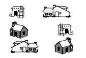 Houses different - Vector — Vettoriale Stock