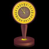 不久前午夜的老式时钟. — 图库矢量图片