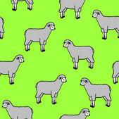Carta da parati senza soluzione di continuità con le pecore e montoni — Vettoriale Stock