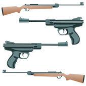 Firearm, a pistol on a white background. Vector. — Stock Vector