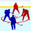 Ice hockey players. Vector illustration — Stock Vector