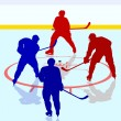 Постер, плакат: Ice hockey players Vector illustration