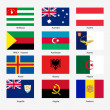 Set Flags of world sovereign states. Vector illustration. Set n — Stock Vector #38821267