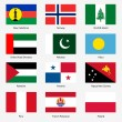 Set Flags of world sovereign states. Vector illustration. Set n — Vecteur