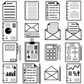 Statistics and analytics file icons. Vector illustration. — Stock Vector