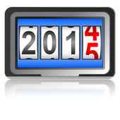 2015 New Year counter, vector illustration. — Stock Vector