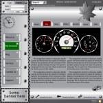 Template web site about automotive topics. — Stock Photo #9403631