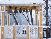 Campanas en una torre del campanario — Foto de Stock