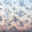 Abstract frosty pattern on glass — Stock Photo
