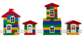 Toy colorful houses — Stock Photo