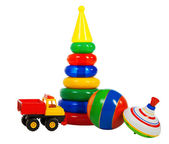 Multi colored toys — Stock Photo